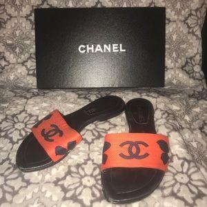 Chanel Slide Sandals Size 36.5